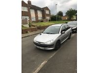 Peugeot 206sw 9 Month Mot Very Good condition £550 ono