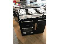 Ex display Leisure 90 cm Glass Lid Dual fuel Range Cooker CC90F531 Black