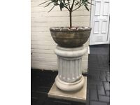 Concrete garden planter lovely plain or painted whatever can deliver at cost