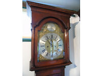 Georgian Oak Longcase clock by Edward Bartholomew of Sherborne, Dorset