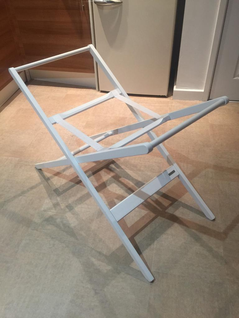 John Lewis White wooden Moses Basket Stand