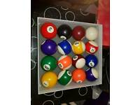 Pool and snooker balls full set