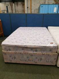 Used double divan base with matching mattress