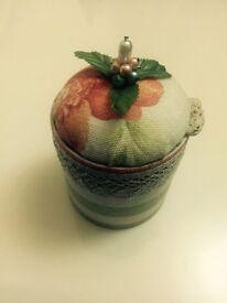 Handmade jewellery box/gift box - upcycled materials