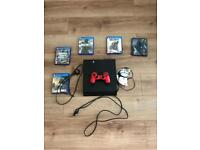 PS4 with games, headset and controller
