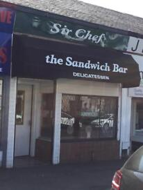 Delicatessen / Sandwich shop for sale East End Glasgow Free Hold NEW LOWER PRICE