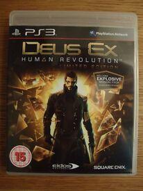 Playstation 3 game - Deus Ex - Human Revolution - Limited Edition