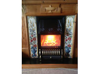 Electric plug-in fireplace with tiled decoration - sold pending pick-up
