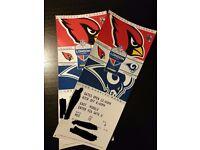 2 x NFL Tickets - Arizona Cardinals vs Los Angeles Rams 22nd October Twickenham Stadium