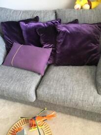 Deep purple cushions