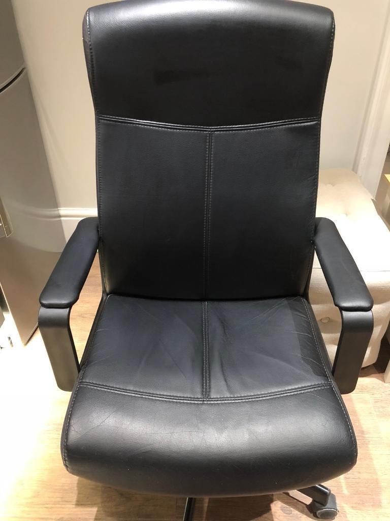 Ikea millberget faux leather computer chair