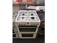 BELLING 60CM ALL GAS COOKER IN WHITE WITH LID