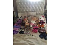 Build a bear bears 6 of some limited edition lots of clothes & accessories
