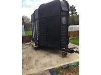 Vintage black horse trailer