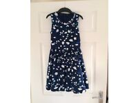 Party Dress - Blue patterned party dress by Autograph 9 - 10 years