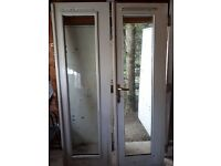 "Wooden double glazed french doors 6' 6"" high x 4' wide opening"