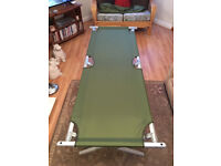 New (old stock) Genuine British Army Cot bed - Camping / Fishing