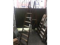 Large Set Of Vintage Wooden Step Ladders Ideal For Shabby Chic Or Wedding Decor