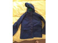 Boys Joules raincoat with hood, age 7, press stud & zip fastening, great condition, pet & smoke free