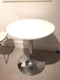MADE Kite bar table - small round white kitchen table