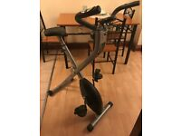 V-fit MXC1 Folding X Frame Exercise Bike - Good Condition - Collection Only