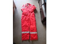 New thermal overall/boiler suit flame retardent size 50 in Red Roots brand with reflective stripes