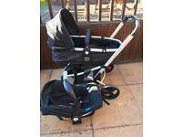 Mothercare Xpedior 3in1 Pram + Car Seat