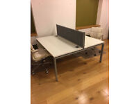 office desk workstation white 2 positions
