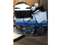 PS4 be headset wands camera and 3 games . Used twice like brand new