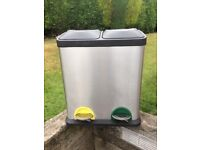 Stainless Steel Double Bin 2 X 20 litre Compartments