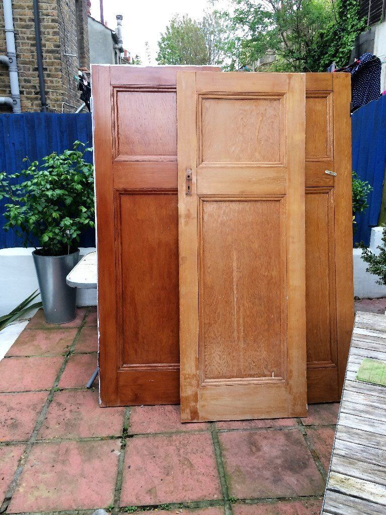 Three Antique 1920's 1930's Art Deco Arts & Crafts 1 Over 1 Panel Doors £15 EACH