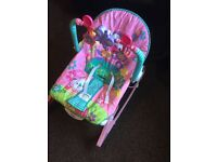 Pink Fisher price 0-3 years baby bouncer