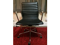 Mid-century style Eames Leather Replica Management Office Chair.