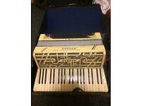 1930's Vintage Hohner Verdi III Accordion with original case and key