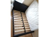 Pleather double bed