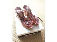 MARC JACOBS floral sandals UK6
