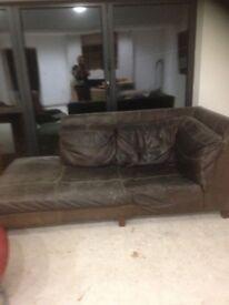 Free 2 dfs leather sofas