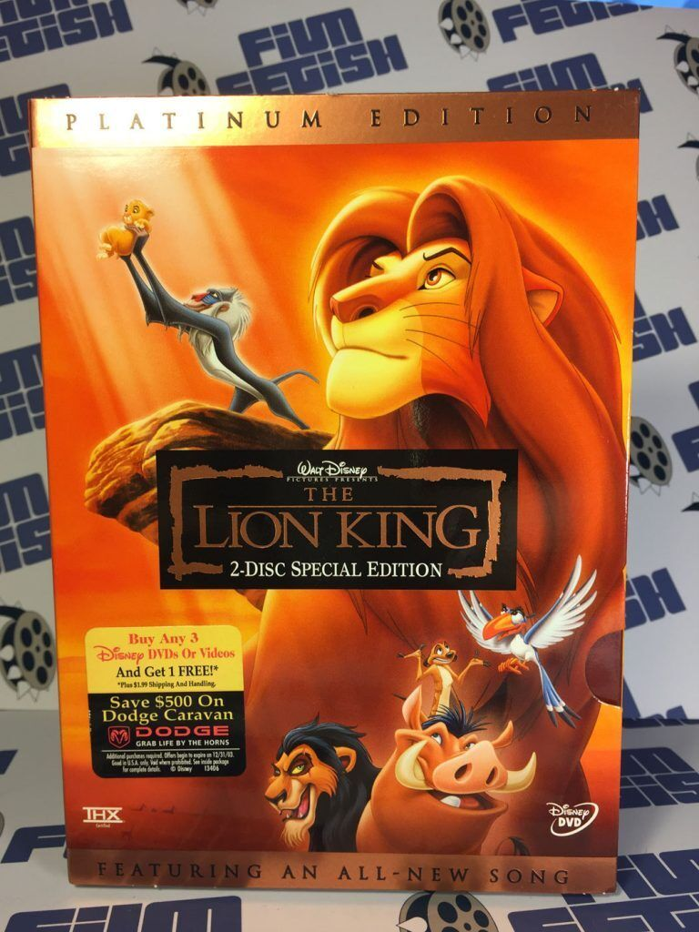 LION KING - Platinium Edition - NEW 2 DVD Box - FREE Post - mmoetwil@hotmail.com