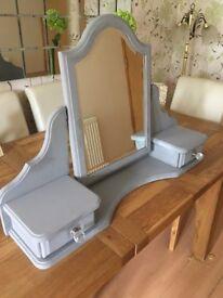 Vanity Mirror 2 Drawer Dressing Table Top