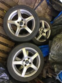 Alloy wheels+tyres