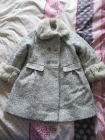 Beautiful winter party coat age 4-5 years