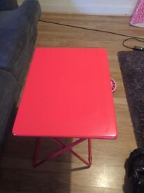 Foldaway Table - Bright Pink
