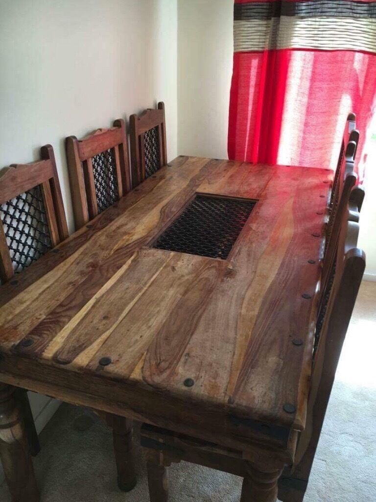 Rosewood Dining Table Indian Rosewood Dining Table 6 Chairs Matching Sideboard And