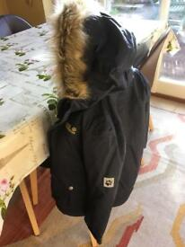 Jack Wolfskin Child's Waterproof Rain Coat & Detachable Fleece Liner - V Good Condition
