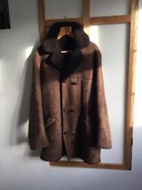 Vintage Irish sheepskin men's coat. Size 44inch chest, Regular.