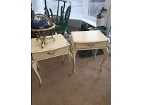Set of old bedside tables - used