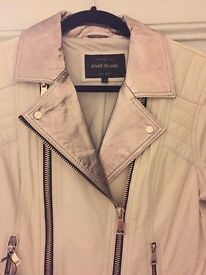 Ladies size 12 stunning River Island leather jacket BNWT