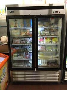 Glass two door freezer -  Brand new special