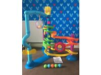 Fisher Price Move and Groove Ballapalooza ono ; 6-36months with a Pop up Carousel Tent for FREE 🐯🐘