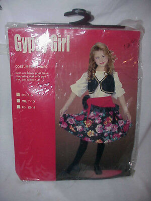 GYPSY GIRL  HALLOWEEN COSTUME  SZ  SMALL 4-6 DRESS VEST - Gypsy Girl Kostüm Halloween